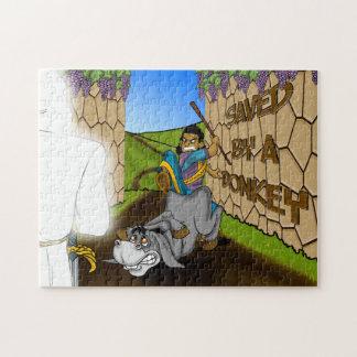 Économisé par un puzzle d'histoire de bible de