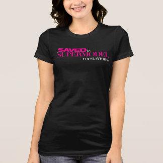 Économisé par un T-shirt de femmes de mannequin