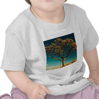 Écorce de jaune d'arbres de nature t-shirts