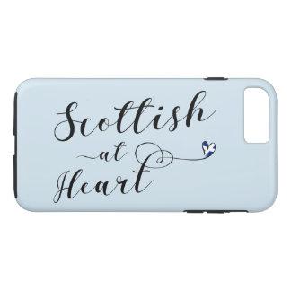 Écossais au cas de téléphone portable de coeur coque iPhone 7 plus
