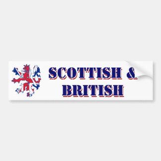 Écossais et britannique fiers autocollant de voiture