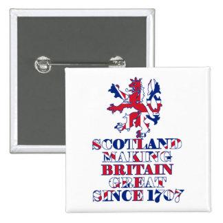 Écossais et britannique fiers pin's