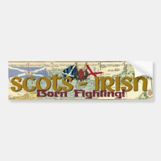 Ecossais-Irlandais - combat soutenu ! Autocollant De Voiture