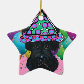 Écossais noir Terrier de partie Ornement Étoile En Céramique