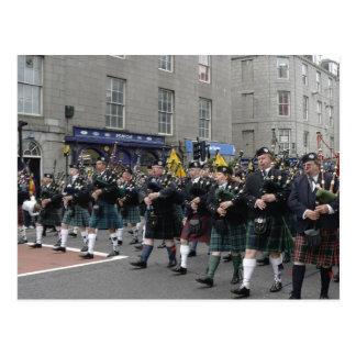 Écossais Pipeband Carte Postale