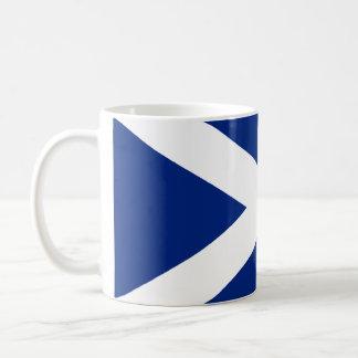 Écossais Saltire Mug Blanc