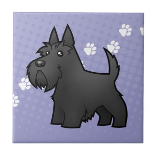 Écossais Terrier de bande dessinée Petit Carreau Carré