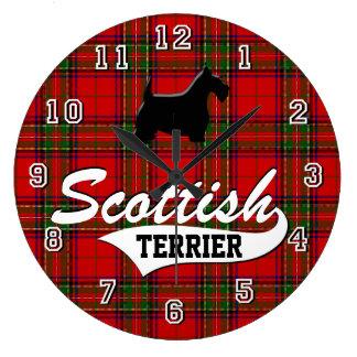 Écossais Terrier Grande Horloge Ronde
