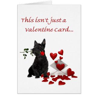 Écossais Terrier rose et coeurs Valentine Cartes De Vœux