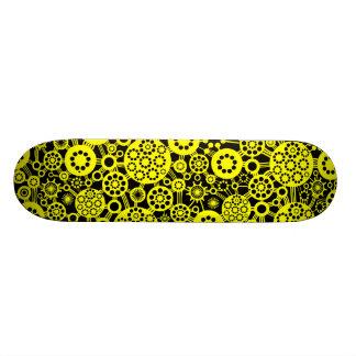 Écosystème - jaune sur le noir skateboards personnalisables