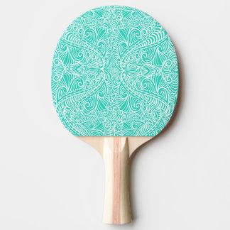 Écoulement élégant de vert de mer raquette de ping pong
