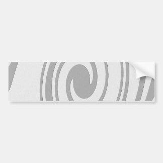 Écoulement en spirale gris de motif de gauche à autocollant de voiture