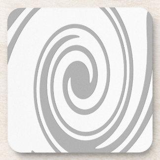Écoulement en spirale gris de motif de gauche à dessous-de-verre