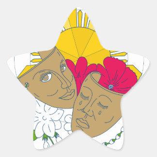 Écoulement philippin de Sampaguita de ketmie de Sticker Étoile
