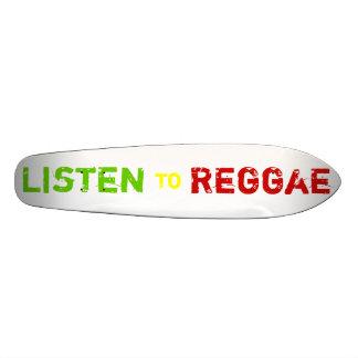 Écoutent, le reggae plateaux de skate