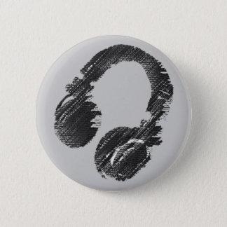 écouteur noir de disc-jockey de musique badges