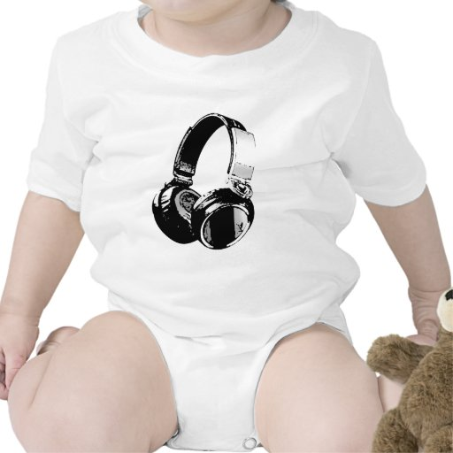 Écouteur noir et blanc d'art de bruit barboteuses