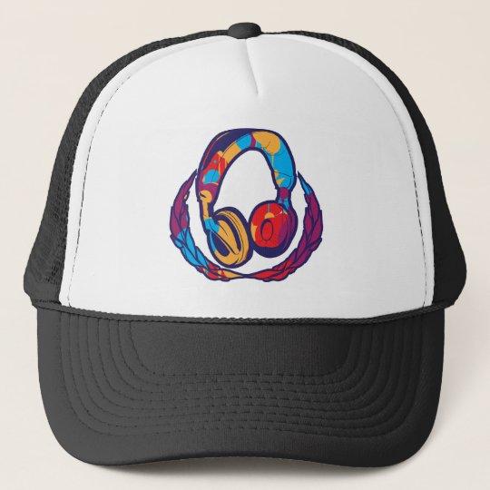 Écouteurs colorés casquette