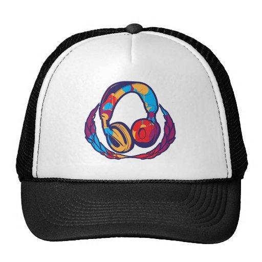 Écouteurs colorés casquette de camionneur