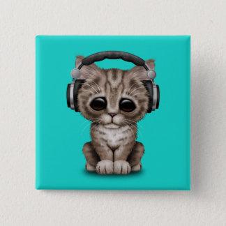 Écouteurs de port de chaton mignon badge