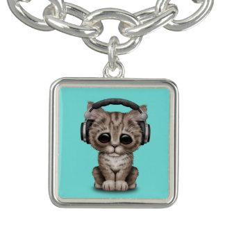Écouteurs de port de chaton mignon bracelet
