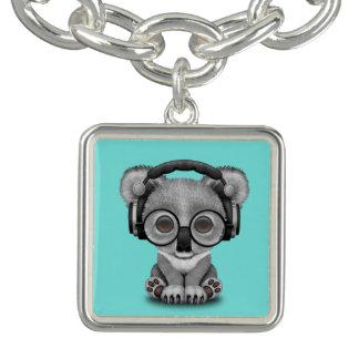 Écouteurs de port de koala mignon de bébé bracelet avec breloques