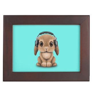 Écouteurs de port de lapin mignon de bébé boîte à souvenirs