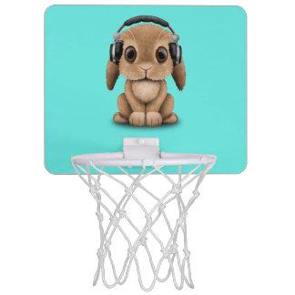 Écouteurs de port de lapin mignon de bébé mini-panier de basket