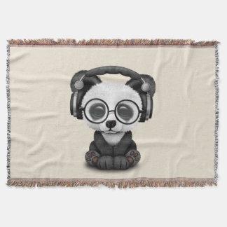 Écouteurs de port de panda mignon de bébé couverture