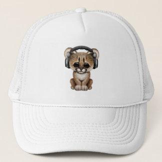 Écouteurs de port de puma mignon de bébé casquette