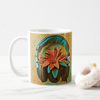 Écouteurs de port de rétro plante mug