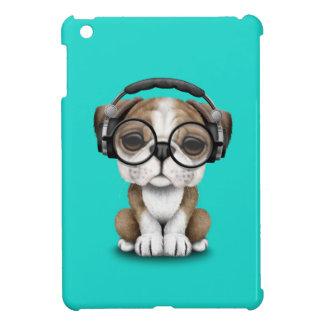Écouteurs de port du DJ de chiot mignon de Coques iPad Mini