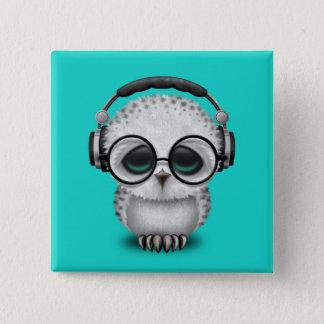 Écouteurs de port du DJ de hibou mignon de bébé Pin's
