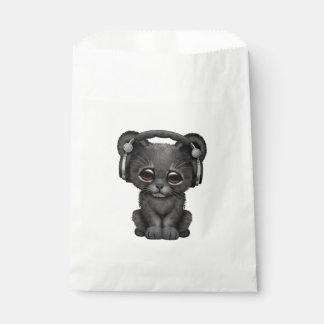 Écouteurs de port mignons de CUB de panthère noire Sachets En Papier