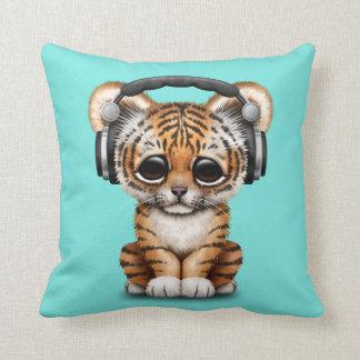Écouteurs de port mignons de CUB de tigre Coussin Décoratif