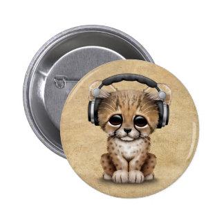 Écouteurs de port mignons de CUB DJ de guépard Badges