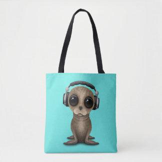 Écouteurs de port mignons d'otarie de bébé sac