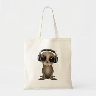 Écouteurs de port mignons d'otarie de bébé sacs en toile