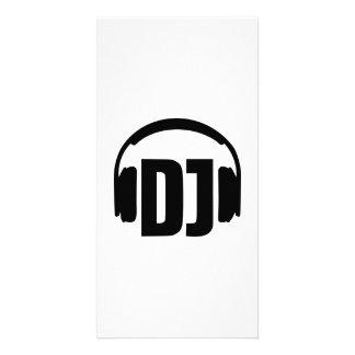 Écouteurs du DJ Carte Avec Photo