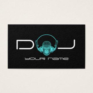 Écouteurs du DJ Cartes De Visite
