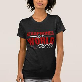 Écouteurs en monde (obscurité) t-shirt