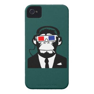 écouteurs moteurs de club de singe de la singe 3D Étui iPhone 4