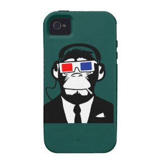 écouteurs moteurs de club de singe de la singe 3D Coque Case-Mate iPhone 4