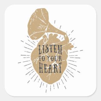 Écoutez vos autocollants de coeur