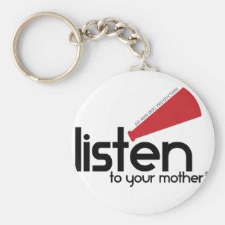 Écoutez vos cadeaux de mère porte-clé rond