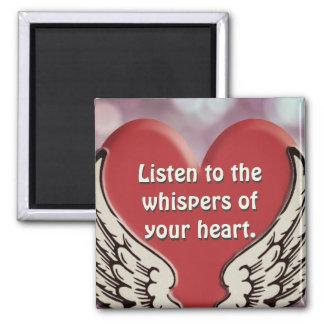 Écoutez votre coeur magnet carré
