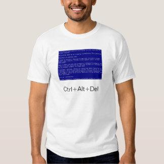 écran bleu de la mort t-shirt