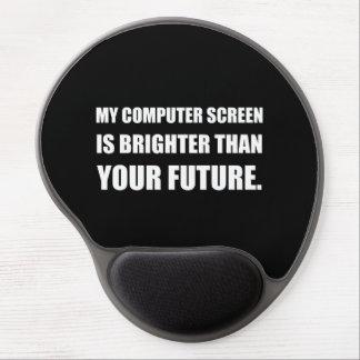 Écran d'ordinateur plus lumineux que l'avenir tapis de souris en gel