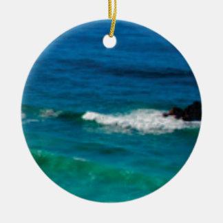 écrasement de marée au rivage ornement rond en céramique