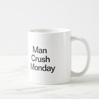 Écrasement lundi d'homme mug blanc